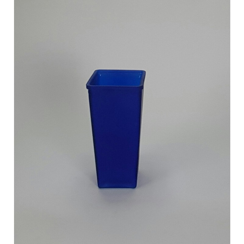 Blue Tapered Glass Rose Vase