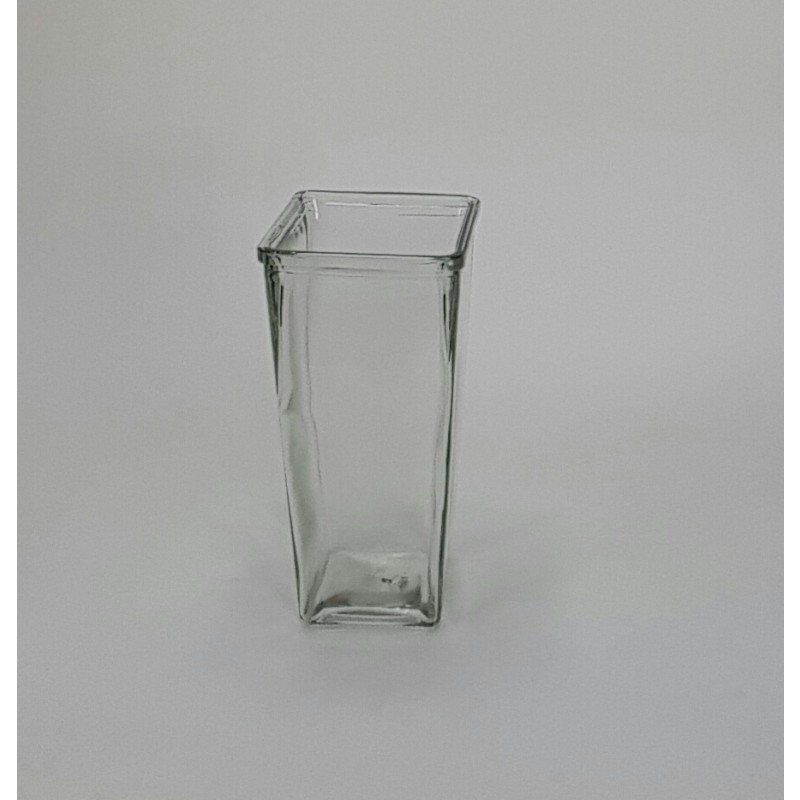 Clear Tapered Glass Rose Vase