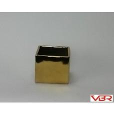 GOLD CERAMIC CUBE